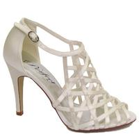 View Item IVORY PERFECT SATIN BRIDAL WEDDING BRIDESMAID BRIDE SANDALS SHOES SIZES 3-8